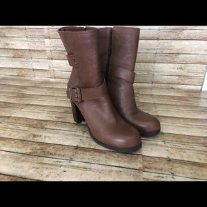 Nine West Cycloneo leather boots sz8.5